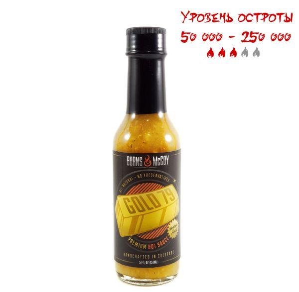 Гострий соус Burns & McCoy Gold 79 Premium Hot Sauce