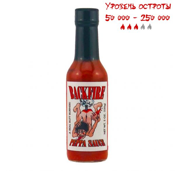 Гострий соус Backfire Peppa Sauce